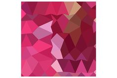Brilliant Rose Pink Abstract Low Pol. Patterns