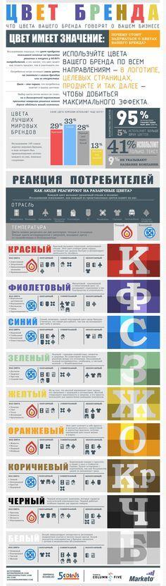 Инфографика: цвет бренда