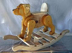 Items similar to Handcrafted Cherry, Maple, and Walnut Rocking Horse on Etsy Diy Wood Projects, Projects For Kids, Wooden Ride On Toys, Woodworking Plans, Woodworking Projects, Natural Crafts, Rocking Horses, Pallet Creations, Wood Patterns