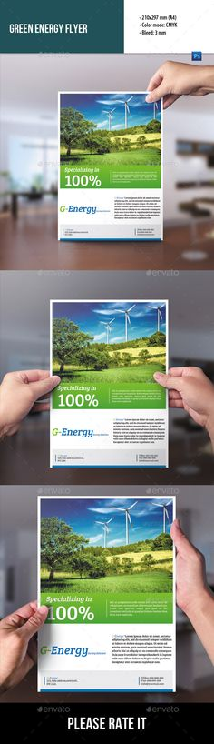 Green Energy Flyer Templates  Flyer Template Template And Brochures