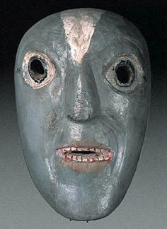 Old Ecuadorian mask.    Highland Quichua people, Pichincha, Ecuado, South America