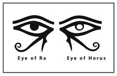 Eye Of Ra Tattoo, Third Eye Tattoos, Tattoo Outline, Egyptian Symbols, Egyptian Mythology, Egyptian Goddess, Egyptian Art, Left Eye Of Horus, Eye Of Horus Meaning