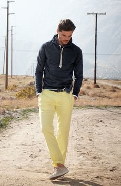 like the sweater..not the yellow pants...tan or blue