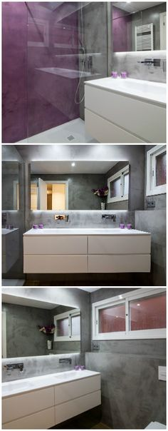 Baño púrpura desde d