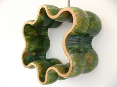 Richard Deacon sculpture, I love the shape of the piece, and the way the edges undulate in and out. I would like to use this piece as inspiration to create a piece out of a different material such as clay.