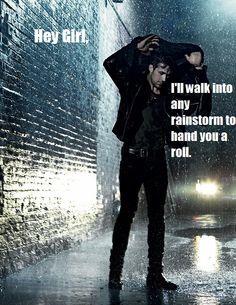 Ryan Gosling + Hunger Games = more of a gentleman than Peeta.