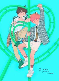 Read Taegi from the story Jikookmin fotos y fanarts volumen 2 by SargentoPanda (Rin) with reads. Bts Chibi, Vhope Fanart, Fanart Bts, Kpop, Bts Drawings, Bts Fans, Bts Lockscreen, Jikook, Bts Wallpaper