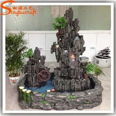 Sale all types of fiberglass artificial rock waterfall waterfall for garden decoration fiberglass artificial rock