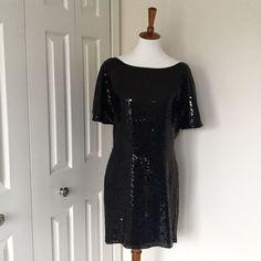 2x Hpexpress Black Sequin Open Back Dress