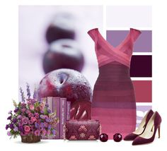 """""""plums"""" by lindsey-maren-grace ❤ liked on Polyvore featuring Hervé Léger, Tory Burch, Rupert Sanderson, Reeds Jewelers, women's clothing, women's fashion, women, female, woman and misses"""