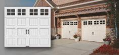 The Garage doors with windows