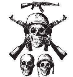 Skull army on VectorStock