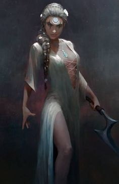 Looks perfect for Exalted rpg. Fantasy Wesen, Fantasy Rpg, Fantasy Artwork, Dark Fantasy, Dnd Characters, Fantasy Characters, Female Characters, Character Creation, Character Concept