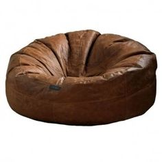 Exceptionnel Sao Luis Real Leather Bean Bag Chairs Brown