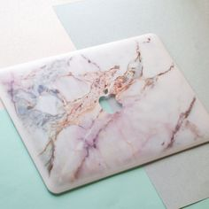 White Marble Macbook Case Laptop Case Macbook by OhioDesignSpace