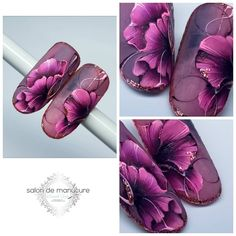 One Stroke Nails, Top Nail, Pastel Flowers, Fabulous Nails, Nail Artist, Pink Nails, Flower Decorations, Flower Art, Hair Makeup