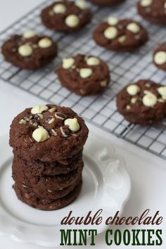 I have a new favorite cookie - Double Chocolate Mint Cookies! { lilluna.com } Please REPIN to help with a Virtual Bake Sale!! THANK YOU! #McCormickBakeSale