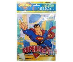 Superman Vintage Favor Bags (8ct)