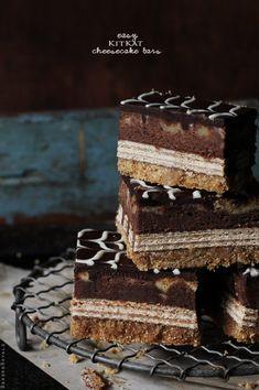 Kit Kat cheesecake bars recipe