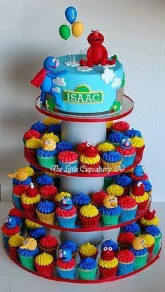Elmos Cupcake Cake Elmo Cupcakes Birthday Mini
