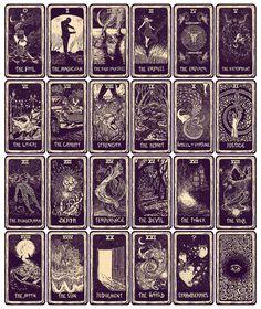"The 22 Major Arcana Tarot Cards and the 23rd ""Mystery"" Card. Amazing deck i want"