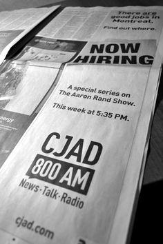 CJAD - Now Hiring Ad