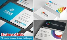 50 Creative Corporate Business Card Design examples - Design inspiration. Read full article: http://webneel.com/25-creative-corporate-business-card-design-examples | more http://webneel.com/business-cards | Follow us www.pinterest.com/webneel