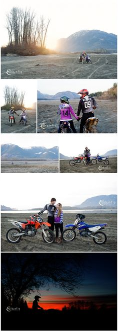 dirt-bike-river-engagement-session-sunset #dirtbikeengagementsession #engagementphotography #silhouettes #weddingphotography