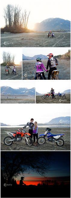 dirt-bike-river-engagement-session-sunset #dirtbikeengagementsession #engagementphotography #silhouettes #weddingphotography
