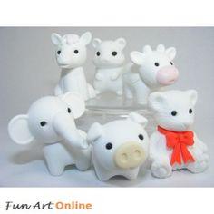 Iwako White Knights Animals Japanese Erasers