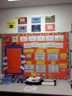 Our IB Board.  This area informs us of our current unit and all the important stuff we need to know!