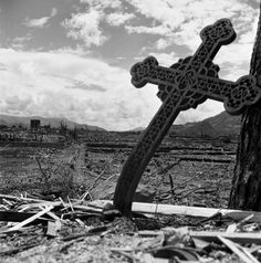 This is an image of Nagasaki, Japan after the atomic bomb was dropped in I chose this picture specifically because the cross is bent sideways and all of the ...