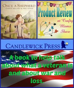 Crafty Moms Share: Once A Shepherd -- Book Review -- a book to talk about war and veterans