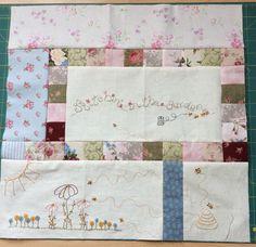 Blok 2 van Phoebe's Garden van Lesley McConnel voor Quiltshop 100 Rozen