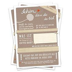 Schön, dass du da bist Hochzeitsspiel - 52 Postkarten mit Fragen & Hochzeitsgeschenke Spiel für die Hochzeit Postkartengruß Partykarten 5 Vintage2