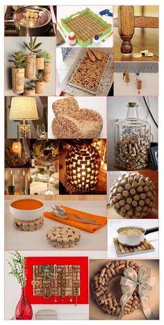 Fecho éclair: dica do dia! Diy And Crafts Sewing, Diy Crafts To Sell, Home Crafts, Arts And Crafts, Wine Cork Crafts, Wine Cork Art, Wine Corks, Crafts For Teens, Craft Videos