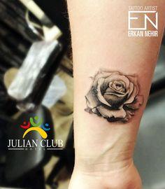 rose tattoos girly black grey #tattoo #tattoos #rose #girly #black #realism #rosetattoo #arm #wrist #tattooist #erkan #nehir #roses