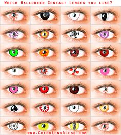 halloween contacts colored contacts halloween is coming time to order Discount Contact Lenses, Buy Contact Lenses, Coloured Contact Lenses, Colored Eye Contacts, Cool Contacts, Eye Color Chart, Zodiac Signs Pictures, Eye Lens Colour, Halloween Contacts
