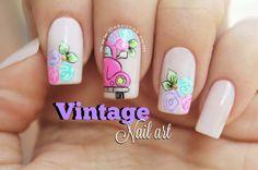 Fancy Nails, Pretty Nails, Vintage Nail Art, Glow Nails, Disney Nails, Dream Nails, Super Nails, Nail Decorations, Gel Manicure