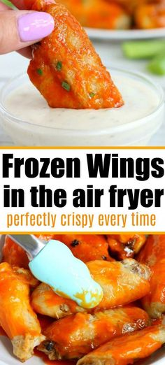 Frozen chicken wings in air fryer machines actually turn out great! Tender meat … Frozen chicken wings in air fryer machines actually turn out great! Tender meat on the inside with a crispy skin and smothered in sauce. Air Fry Chicken Wings, Frozen Chicken Wings, Cooking Chicken Wings, Crispy Chicken Wings, Chicken Wing Recipes, Frozen Chicken Recipes, Air Fryer Recipes Chicken Wings, Cabbage Recipes, Keto Chicken