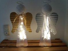 Deko-Objekte - Engel mit Licht aus Sternenfolie, Beleuchtet, Deko - ein Designerstück von Heidi1969 bei DaWanda