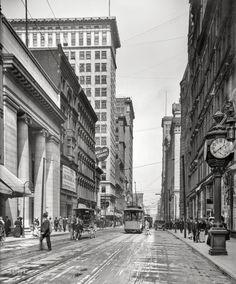 "Circa 1907. ""Fourth Street, Cincinnati, Ohio."" http://www.shorpy.com/node/21311 #oldpics #oldphotos"