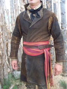 frontier deerskin coat with fringe Native American Clothing, American Apparel, American Women, American Indians, American Art, American History, Mountain Man Clothing, Mountain Man Rendezvous, Trekking Outfit
