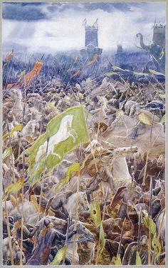 'Battle of the Pelennor Fields' by Alan Lee