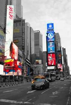 Times Square, New York City, early morning [=