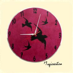 Horloge sur vinyl 33 tours les oiseaux Decoration, Clock, Tours, Etsy, Vintage, Wall, Home Decor, Wall Art, Handmade Gifts