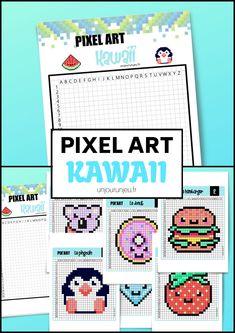 Pixel Art Lapin, Pixel Art Chat, Pixel Art Kawaii, Kawaii Art, Pixel Art Minecraft, Modele Pixel Art, Pix Art, Animal Crossing Memes, Pixel Pattern