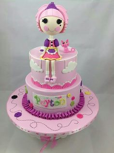 Lalaloopsy- she would FLIP! Gorgeous Cakes, Amazing Cakes, Bolo Sofia, 5th Birthday Cake, Character Cakes, Just Cakes, Cake Pictures, Novelty Cakes, Girl Cakes