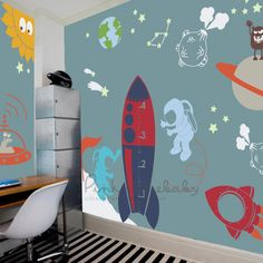 Huhome PVC Wall Stickers Wallpaper English Rather be Cycling bedroom home decora