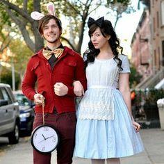 #Cosplay #Couples #AliceInTheWonderland #WhiteRabbit & #Alice #Adorable